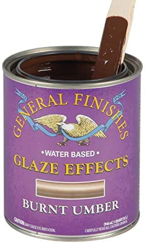 General Finishes Water Based Glaze Effects, 1 Quart, Burnt Umber
