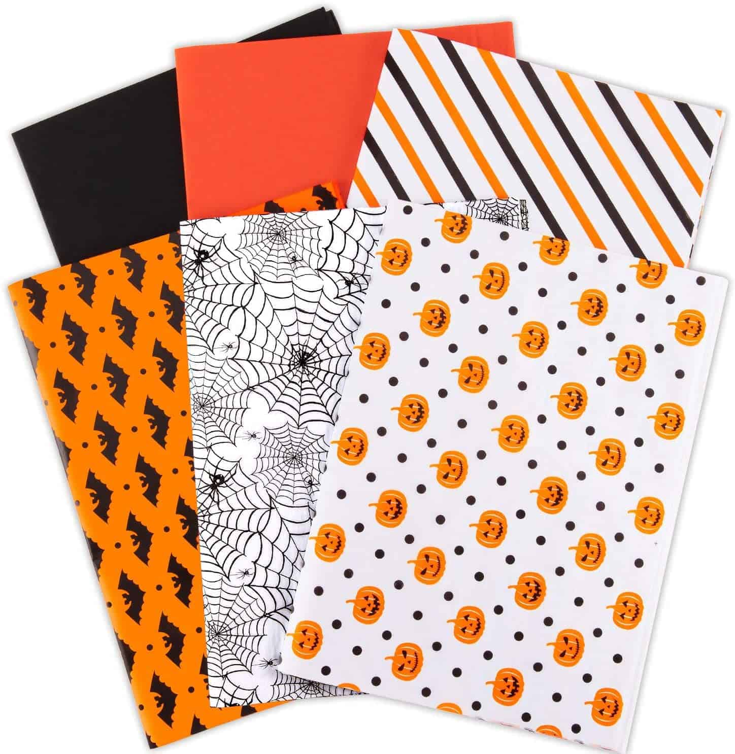 120 Sheets Halloween Tissue Paper in 6 Designs