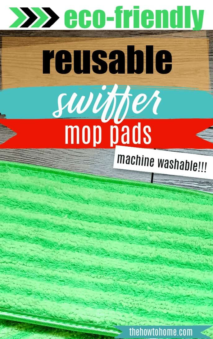 Close up view of reusable mop pads that fit a Swiffer Mop