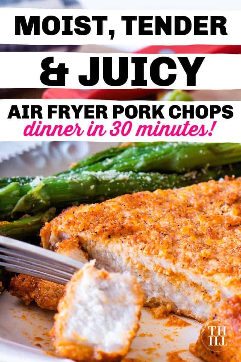 Air fryer pork chops on a plate