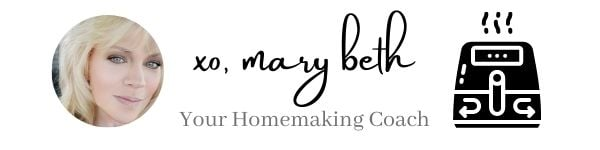Homemaking Coach Sign off with Air Fryer Icon