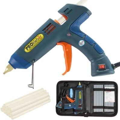 Hot Melt Glue Gun Kit Full Size 100 Watt with Carry Bag and 12 pcs Glue Sticks