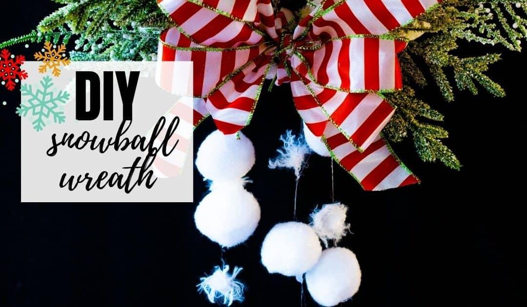 Easy-to-Make DIY Snowball Wreath