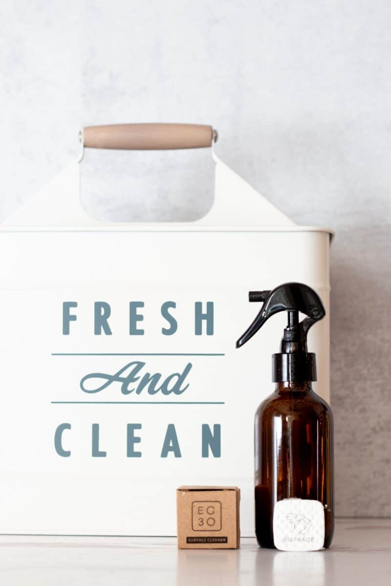 Fresh and Clean farmhouse laundry caddy from BHG