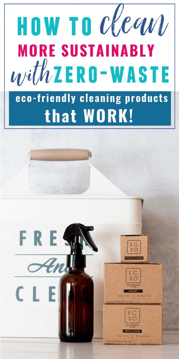 EC30 Zero Waste Cleaning Products in boxes with spray bottle