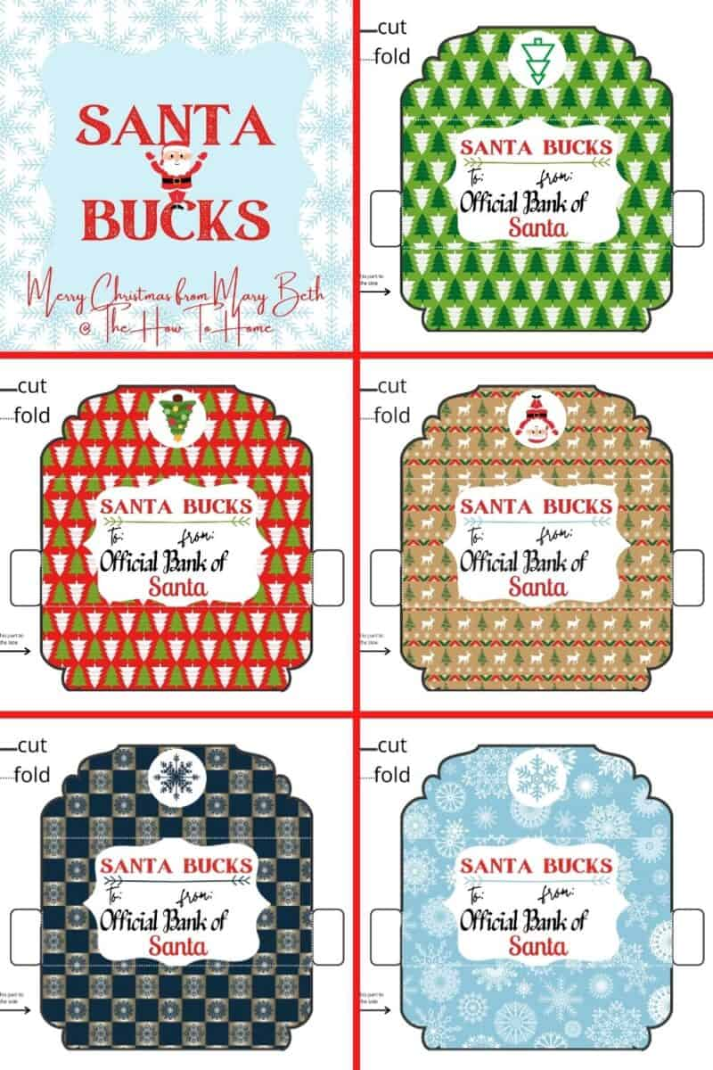 Free Printable Christmas Money Holders The How To Home