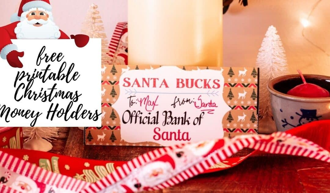 Free Printable Christmas Money Holders