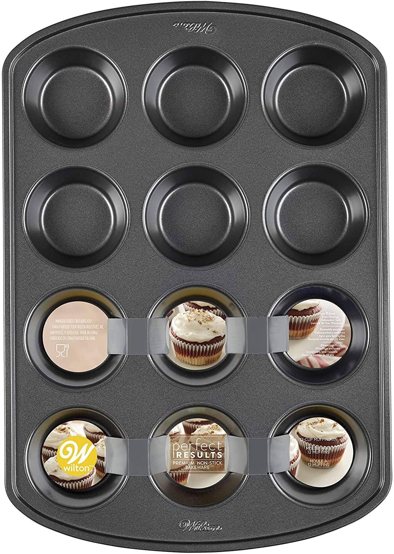 Wilton Perfect Results Premium Non-Stick Bakeware Muffin and Cupcake Pan