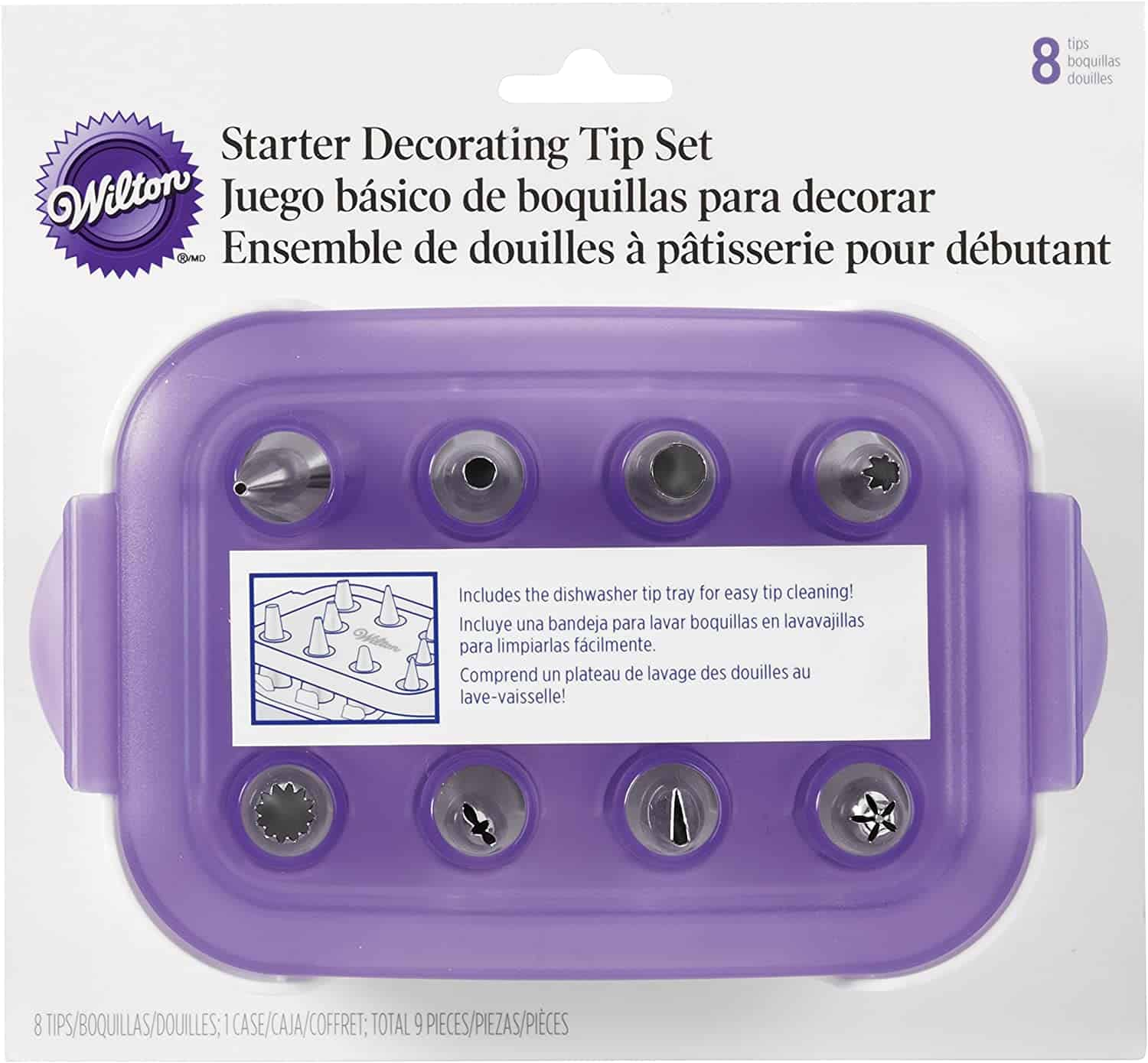Wilton Decorating and Piping 8-Piece Tip Starter Set