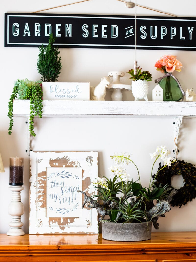 farmhouse buffet decor