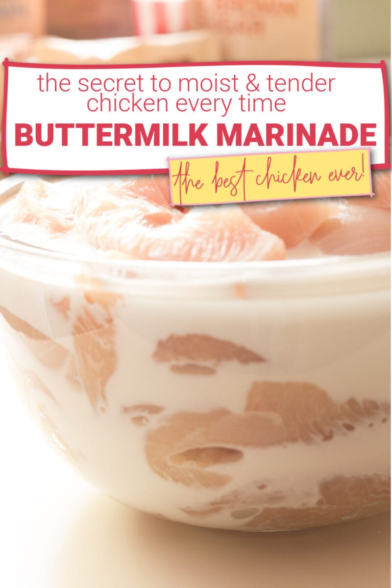 Boneless skinless chicken breasts in a fresh buttermilk marinade - the secret to moist and tender chicken every time