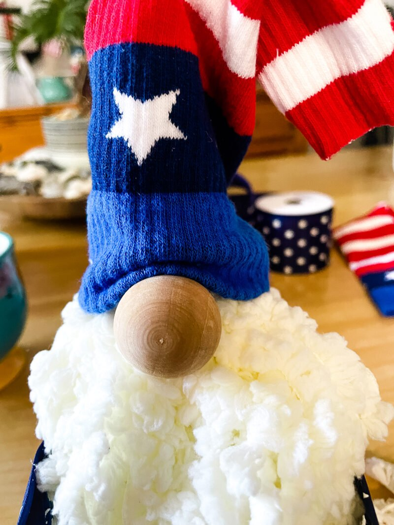 Patriotic Gnome close up of cute little face