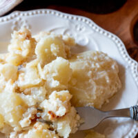 Plate of creamy Amish potatoes