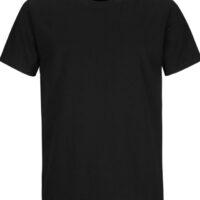 freshly laundered men's black t-shirt