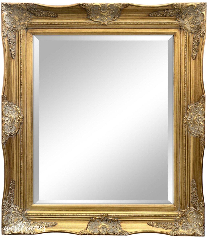 West Frames Georgiana Antique Gold French Ornate Baroque Framed Wall Mirror